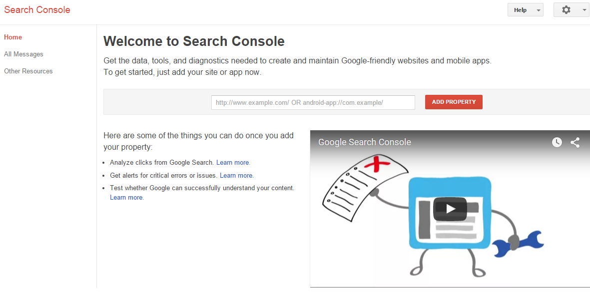 GWT Search Console